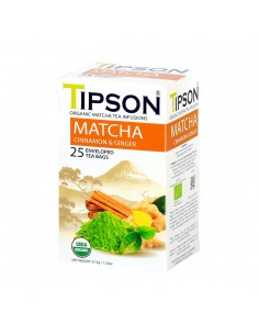 TIPSON MATCHA CANELA 25 BOLSAS